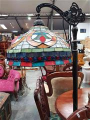 Sale 8925 - Lot 1082 - A stained glass standard lamp in jewel like colours