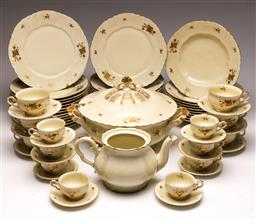Sale 9104 - Lot 96 - A suite of Bavarian dinner and tea wares