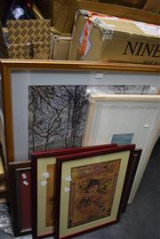 Sale 8346 - Lot 2035 - Group of (5) Assorted Framed Decorative Prints Including: Country Scene, Chinese Vintage Style Advertising Prints, various sizes