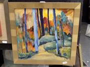 Sale 8417T - Lot 2021 - Geniffer Williams - National Park NSW 30 x 30cm