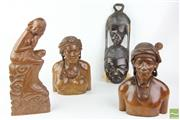 Sale 8490 - Lot 48 - Carved Filipino Figures with Other Treen inc African Example