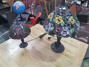 Sale 8648C - Lot 1051 - Leadlight Shade Table Lamps x 2