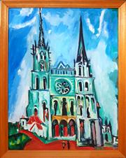Sale 8668 - Lot 2031 - Unknown Artist - The Cathedral, acrylic on canvas board, 59.5 x 44cm, unsigned -