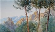 Sale 8992 - Lot 555 - Rebecca Martens (1838 - 1909) - The Eagles Nest, Sydney 1891 21 x 36 cm