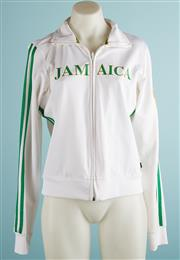 Sale 9071F - Lot 59 - A LA KITTY JAMAICA SPORTS JACKET; with two green stripes to sleeve, size S