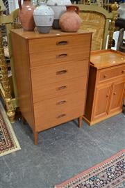 Sale 8013 - Lot 1397 - 1960s Teak Chest of 6 Drawers