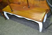 Sale 8115 - Lot 1031 - Side Table on Painted Base