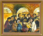 Sale 8281 - Lot 563 - Kevin Charles (Pro) Hart (1928 - 2006) - The Last Supper 35.5 x 43cm