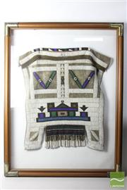 Sale 8481 - Lot 73 - Mid Century Jocolo Ndebele Framed African Ceremonial Beaded Skirt