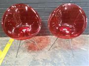 Sale 9022 - Lot 1021 - Pair of Ero Saucer Chairs Designed by Phillip Starck for Kartell (H:82 W:62cm)