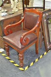 Sale 7981A - Lot 1015 - Late 19th Century Cedar Scrollred Armchair