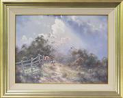 Sale 8191A - Lot 14 - Ramon Ward Thompson (1941 -) - Passing Showers, Burradoo, NSW 45 x 60.5cm