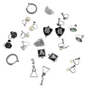 Sale 8134B - Lot 339 - ELEVEN PAIRS OF SILVER EARINGS; 2 with clip fittings, a pair marcasite hoops, 8 pairs with screw fittings some set with pearls marca...
