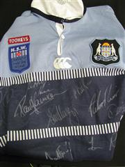 Sale 8125 - Lot 2 - NSW Rugby League Origin jersey with 13 signatures c 1995