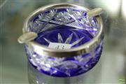 Sale 8226 - Lot 43 - Austro-Hungarian Silver Rimmed Cut Crystal Ashtray Circa 1870-1920