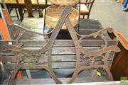 Sale 8257 - Lot 1039 - Pair of Cast Iron Bench Ends