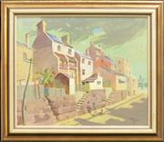 Sale 8282A - Lot 17 - Donald Begbie (XX) - Cambridge St - The Rocks, Sydney 49.5 x 60cm
