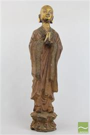 Sale 8490 - Lot 57 - Cast Iron Praying Monk