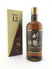 Sale 8571 - Lot 712 - 1x Nikka Whisky 12YO Taketsuru Pure Malt Japanese Whisky - 40% ABV, 700ml in box