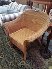 Sale 8593 - Lot 1083 - Wicker Tub Chair