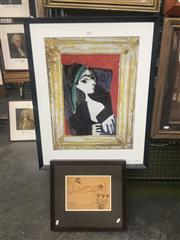 Sale 8751 - Lot 2081 - Pair of Picasso Decorative Prints, framed various sizes