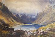 Sale 8781A - Lot 5062 - Attributed to William Turner Of Oxford (1789 - 1862) - Lake Coruisk, Scotland, c1850 50 x 70cm