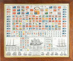 Sale 9130E - Lot 74 - A framed standard of flags of all nations, frame size 61cm x 72cm