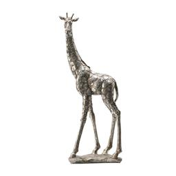 Sale 9140F - Lot 24 - A simple standing giraffe statue made using stone powder and resin to create a faux marble effect. Dimensions: W17 x D10 x H47 cm