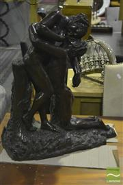 Sale 8305 - Lot 1019 - Bronze Style Lovers Statue