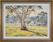 Sale 8334 - Lot 518 - Melvin Duffy (1930 - ) - The Valley Woolshed (near Buangor), 1985 59.5 x 79.5cm