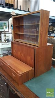 Sale 8383 - Lot 1010 - Four Piece Danish PS System Modular Teak Wall-Hang Unit