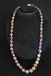Sale 8396A - Lot 6 - Murano Glass Millefiori Necklace