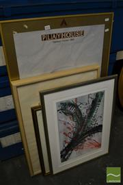 Sale 8491 - Lot 2055 - Group of (4) Framed Decorative Prints Including Victoria Arts Centre Playhouse Poster and Coloured Engraving, framed, various sizes