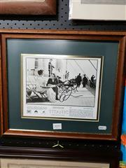 Sale 8645 - Lot 2097 - Titanic Film Memorabilia, signed & framed