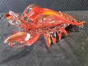 Sale 9022 - Lot 1082 - Art Glass Lobster (h:16 x l:44cm)