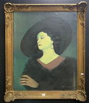 Sale 9016 - Lot 2018 - Artist Unknown (Novotny) The Matriarch oil on canvas laid on board, 83 x 67cm (frame)