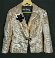 Sale 7982B - Lot 127 - Alex Perry, gold sequinned jacket (10)