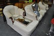 Sale 8013 - Lot 1257 - Lounge Setting Inc Three Seater, Chaise Lounge, Armchair