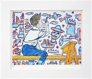 Sale 8188A - Lot 29 - David Bromley (1960 - ) - The Young Artist 21 x 28cm