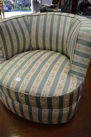 Sale 8115 - Lot 1187 - Upholstered Tub Chair - Tear To Back