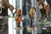 Sale 8112 - Lot 25 - Goebel Figure of a Girl & Another of a Boy