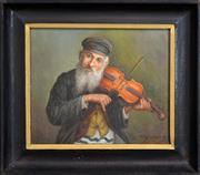 Sale 8325A - Lot 93 - Artist Unknown (XX) - Man and his Fiddle 24 x 28cm