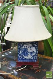 Sale 8406 - Lot 1187 - Oriental Blue & White Table Lamp