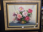 Sale 8417T - Lot 2030 - Artist Unknown (XX) - Floral Still Life 34 x 44cm