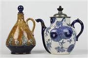 Sale 8452 - Lot 89 - Doulton Lambeth Teapot with a Royal Doulton Decanter