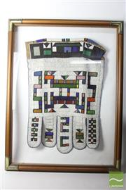 Sale 8481 - Lot 74 - Mid Century Jocolo Ndebele Framed African Ceremonial Beaded Skirt