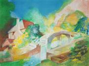 Sale 8583 - Lot 525 - Vincent Brown (1901 - 2001) - Canal Bridge, Warwick 55 x 74.5cm