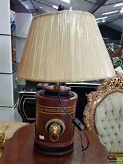 Sale 8566 - Lot 1393 - Inlaid Table Lamp with Ebonised and Gilt Highlights