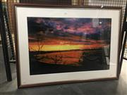 Sale 8751 - Lot 2101 - Artist Unknown, Sunset Byron Bay, photograph, 76 x 103cm (frame size), signed lower right