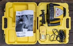 Sale 9160H - Lot 263 - A Fielding Topcon GTS-211D electronic total station theodolite in case, together with a rugby 100 laser alignment by Leica Geosystem...